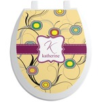 Ovals & Swirls Toilet Seat Decal (Personalized)