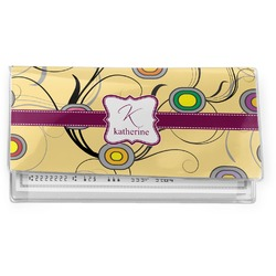 Ovals & Swirls Vinyl Checkbook Cover (Personalized)