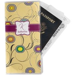 Ovals & Swirls Travel Document Holder