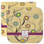 Ovals & Swirls Facecloth / Wash Cloth (Personalized)