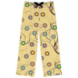 Ovals & Swirls Womens Pajama Pants (Personalized)