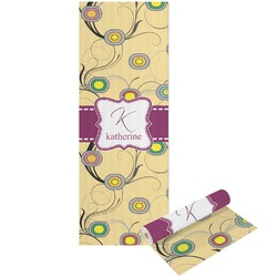 Ovals & Swirls Yoga Mat - Printable Front and Back (Personalized)
