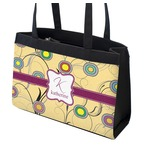 Ovals & Swirls Zippered Everyday Tote (Personalized)