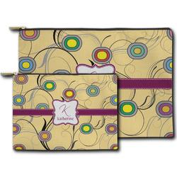 Ovals & Swirls Zipper Pouch (Personalized)