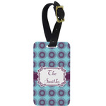 Concentric Circles Aluminum Luggage Tag (Personalized)