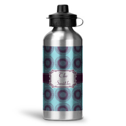 Concentric Circles Water Bottle - Aluminum - 20 oz (Personalized)