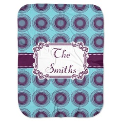 Concentric Circles Baby Swaddling Blanket (Personalized)