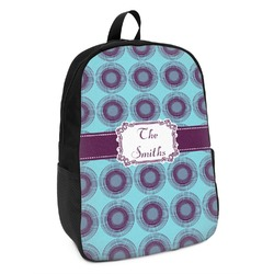 Concentric Circles Kids Backpack (Personalized)