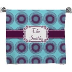 Concentric Circles Full Print Bath Towel (Personalized)
