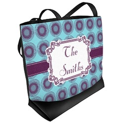 Concentric Circles Beach Tote Bag (Personalized)