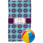Concentric Circles Beach Towel (Personalized)