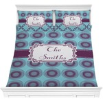 Concentric Circles Comforter Set (Personalized)