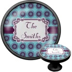 Concentric Circles Cabinet Knob (Black) (Personalized)
