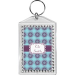 Concentric Circles Bling Keychain (Personalized)