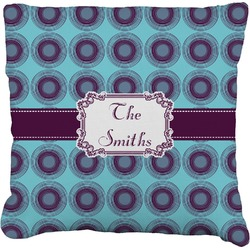 """Concentric Circles Faux-Linen Throw Pillow 26"""" (Personalized)"""