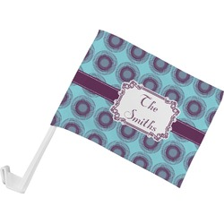 Concentric Circles Car Flag (Personalized)