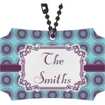 Concentric Circles Rear View Mirror Ornament (Personalized)