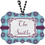 Concentric Circles Rear View Mirror Charm (Personalized)
