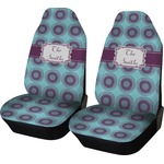 Concentric Circles Car Seat Covers (Set of Two) (Personalized)