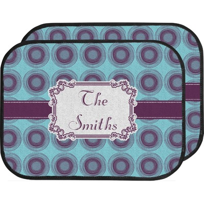 Concentric Circles Car Floor Mats (Back Seat) (Personalized)