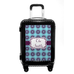 Concentric Circles Carry On Hard Shell Suitcase (Personalized)