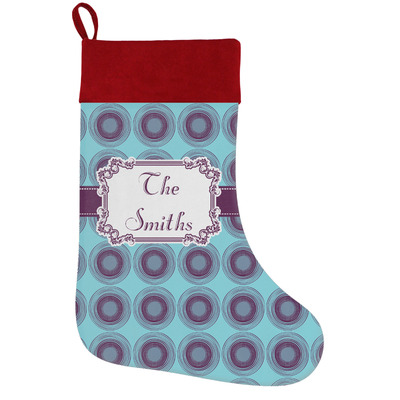 Concentric Circles Holiday / Christmas Stocking (Personalized)
