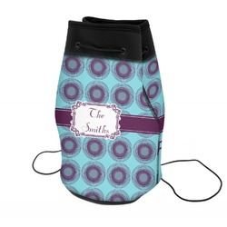 Concentric Circles Neoprene Drawstring Backpack (Personalized)