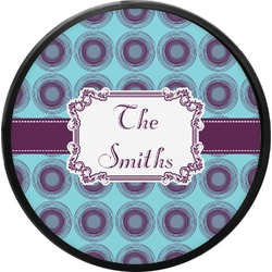 Concentric Circles Round Trailer Hitch Cover (Personalized)