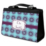 Concentric Circles Classic Tote Purse w/ Leather Trim (Personalized)