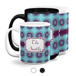 Concentric Circles Coffee Mugs (Personalized)