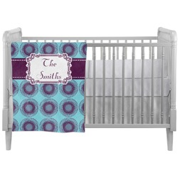Concentric Circles Crib Comforter / Quilt (Personalized)