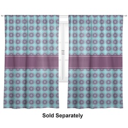 "Concentric Circles Curtains - 20""x84"" Panels - Lined (2 Panels Per Set) (Personalized)"