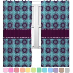 Concentric Circles Curtains (2 Panels Per Set) (Personalized)
