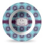 Concentric Circles Plastic Bowl - Microwave Safe - Composite Polymer (Personalized)