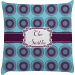 Concentric Circles Decorative Pillow Case (Personalized)