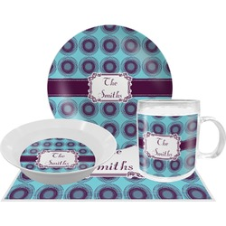 Concentric Circles Dinner Set - 4 Pc (Personalized)