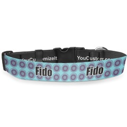 Concentric Circles Deluxe Dog Collar (Personalized)