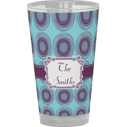 Concentric Circles Drinking / Pint Glass (Personalized)