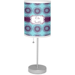"""Concentric Circles 7"""" Drum Lamp with Shade Linen (Personalized)"""