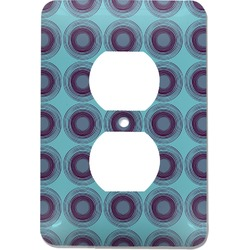 Concentric Circles Electric Outlet Plate (Personalized)
