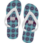 Concentric Circles Flip Flops (Personalized)