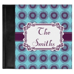 Concentric Circles Genuine Leather Baby Memory Book (Personalized)