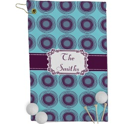 Concentric Circles Golf Towel - Full Print (Personalized)