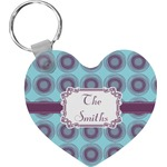 Concentric Circles Heart Keychain (Personalized)