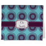 Concentric Circles Kitchen Towel - Full Print (Personalized)