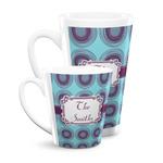 Concentric Circles Latte Mug (Personalized)