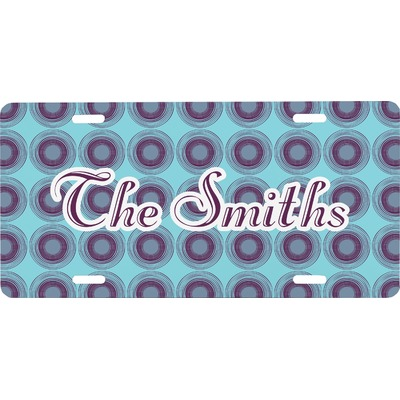 Concentric Circles Front License Plate (Personalized)