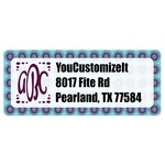 Concentric Circles Return Address Labels (Personalized)