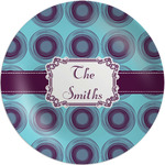 Concentric Circles Melamine Plate (Personalized)