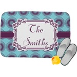 Concentric Circles Memory Foam Bath Mat (Personalized)
